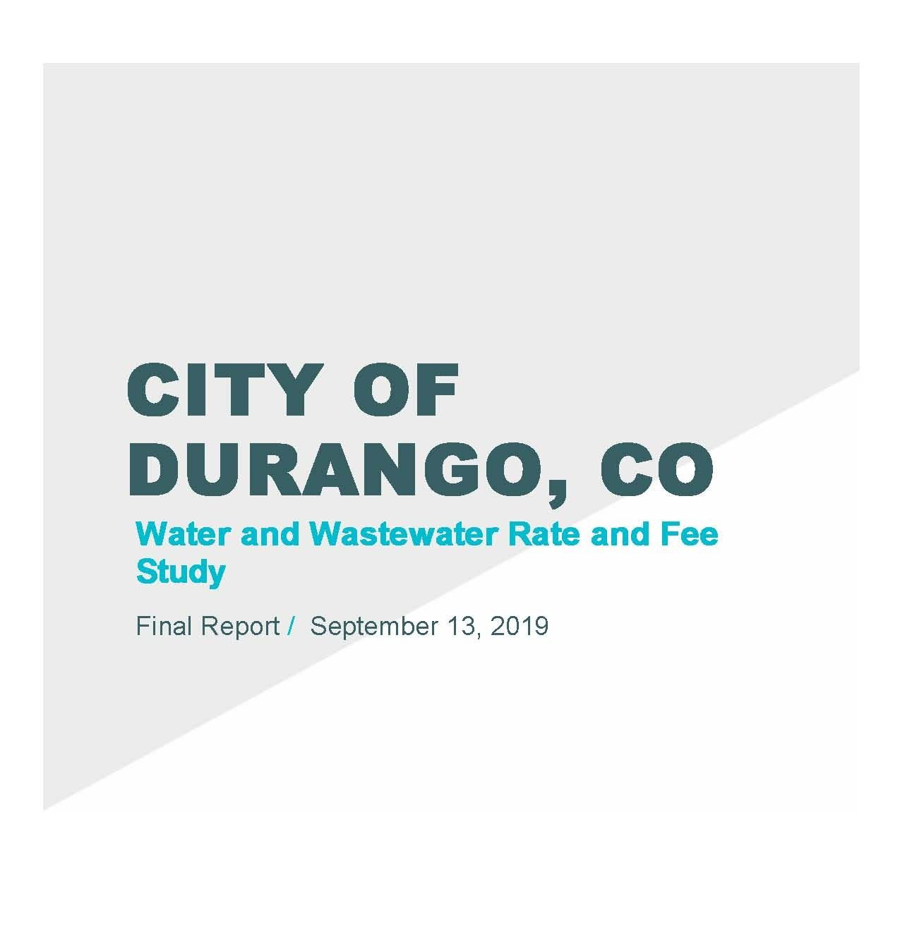 City of Durango Rate and Fee Study 2019 Opens in new window